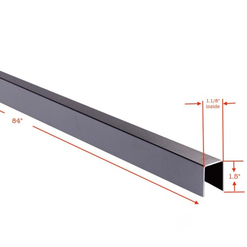Cap Rail for top of Horizontal Slipfence panel